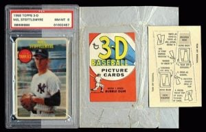 1968 Topps 3D wrapper and easel
