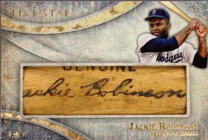 Topps Five Star Jackie Robinson bat relic