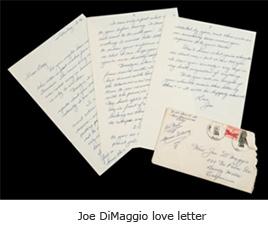 Marilyn Monroe love letter Joe DiMaggio