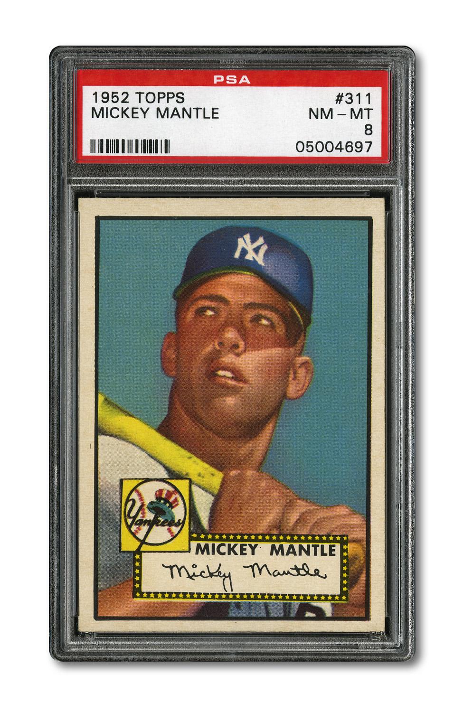 Mickey Mantle 1952 Topps PSA 8