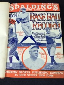 1922 Spalding Record book