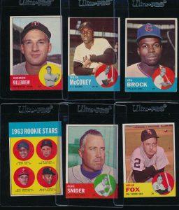 Topps 1963 baseball cards