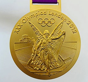 One part of authenticating an Olympic gold medal is determining if it is made of genuine gold