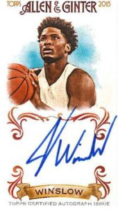 2015 Topps Allen and Ginter Justise Winslow auto