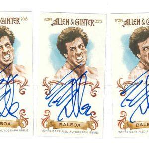 Sylvester Stallone Rocky Balboa autograph Allen Ginter 2015