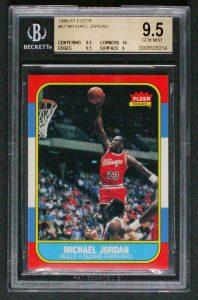 Michael Jordan rookie card BGS 9.5