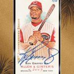 Ken Griffey Jr autograph buyback 2015 Topps Allen Ginter