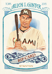 2015 Topps Allen and Ginter Rip Card Giancarlo Stanton
