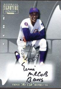 Ernie Banks Mr. Cub Notable Nicknames 2001 Donruss