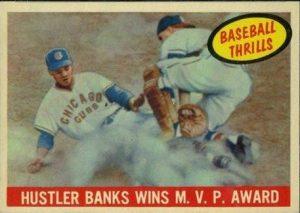 1959 Topps Baeball Thrills Ernie Banks