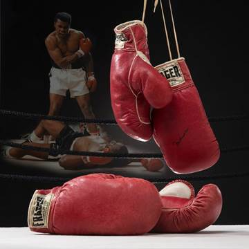 1965 Muhammad Ali boxing gloves Sonny Liston