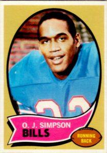OJ Simpson 1970 Topps rookie card