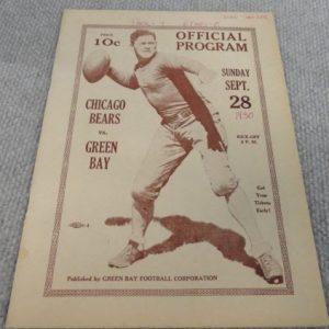 Bears Packers Program 1930