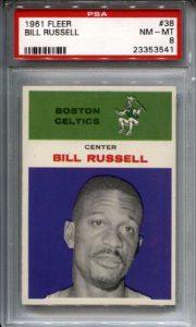 Bill Russell 1961-62 Fleer PSA 8