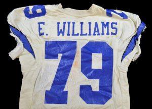 Erik Williams game-used Cowboys jersey