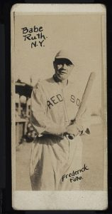 1921 Frederick Foto Babe Ruth