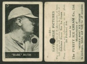 1927 Honey Boy Ice Cream #14 Babe Ruth