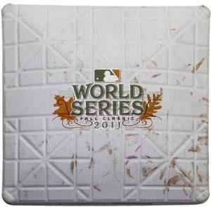 Game used World Series base 2011