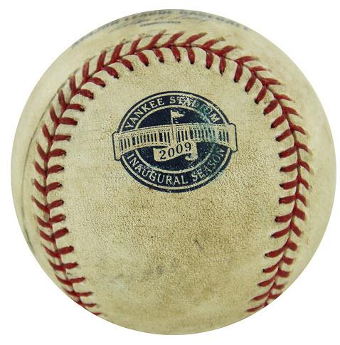 New Yankee Stadiuim game-used baseball 2009