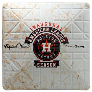 Mariano Rivera autographed base last game