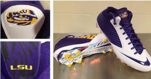 Game-worn LSU cleats