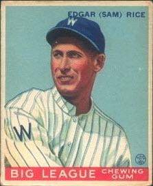 Sam Rice 1933 Goudey
