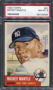Mickey Mantle 1953 Topps PSA 8