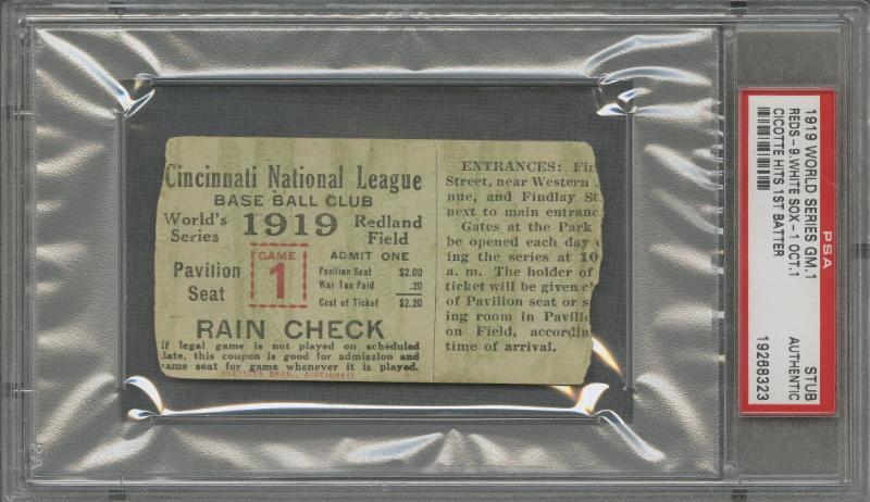 World Series ticket stub 1919