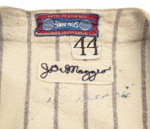 1942 Joe DiMaggio jersey tag