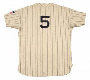 1942 Joe DiMaggio Yankees game jersey home