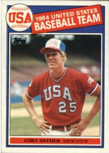 Cory Snyder 1985 Topps