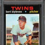 Bert Blyleven rookie card 1971 Topps