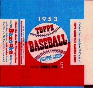 Topps 1953 baseball wrapper