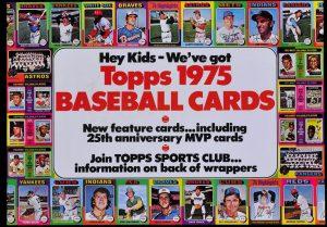 1975 Topps Baseball Ad Poster