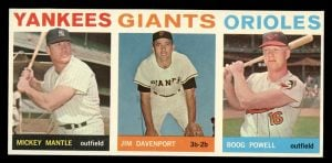 1964 Topps Salesman Sample with Mickey Mantle