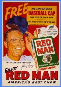 1953 Red Man Chewing Tobacco poster