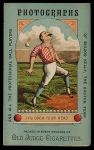 1888 Scorecard with Old Judge cards advertising