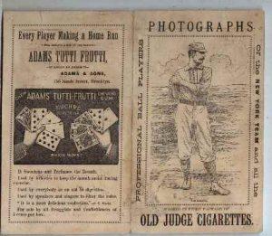 1888 Scorecard picturing Hall of Famer Tim Keefe