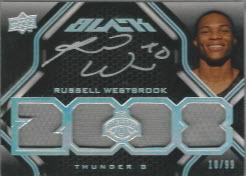 Upper Deck Black Russell Westbrook Rookie