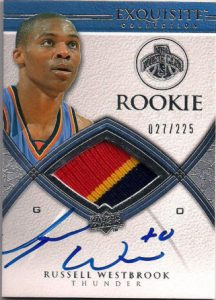 Exquisite rookie 2008 Russell Westbrook auto patch