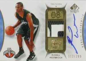 Russell-Westbrook-rookie-auto Sp Authentic