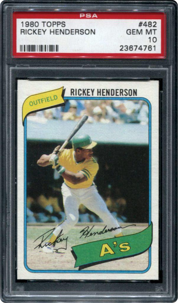 Rickey Henderson 1980 rookie card PSA 10