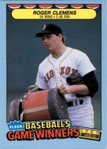 1987 fleer baseballs game winners