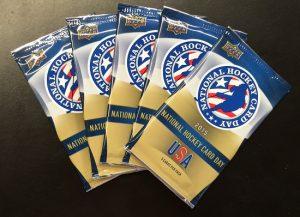 2015 National Hockey Card Day packs USA