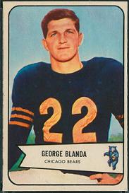 George Blanda rookie card