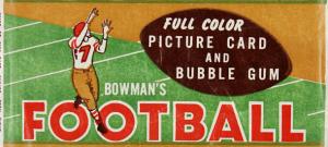 Bowman 1954 football wrapper