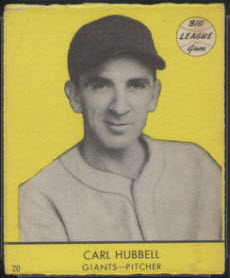 Carl Hubbell 1941 Goudey