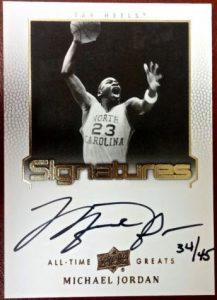 Jordan autograph All-Time-Greats