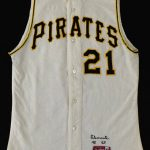 Game-worn Roberto Clemente jersey
