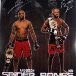 Anderson Silva-Jon Jones signed fight poster